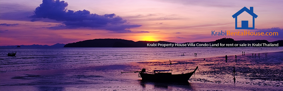 Krabi Property House Villa Condo Land for rent or sale in Krabi Thailand
